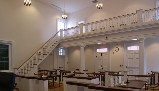 restored 1830 courtroom